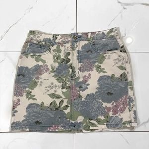 Urban Outfitters Floral Denim Skirt